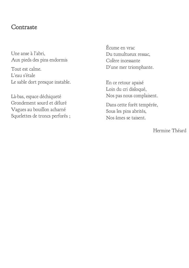 Contraste - Hermine Théard, musicienne