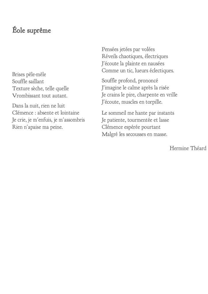 Eole Suprême - Hermine Théard, musicienne